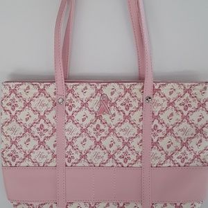 Handbags - 💖Pink & cream tote